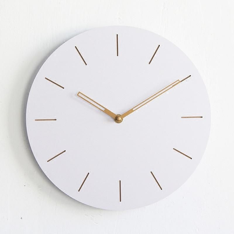 12inch Round Wooden Digital Large Decorative Wall Clock Modern Design Hanging On The Wall Kitchen Watch Mural Home Decor Wall Clock Modern Clock Wall Decor Large Wall Clock Decor