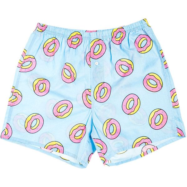e13ff1d43fdf Odd Future The OF Donut Boxers in Blue ( 24) ❤ liked on Polyvore featuring  men s fashion