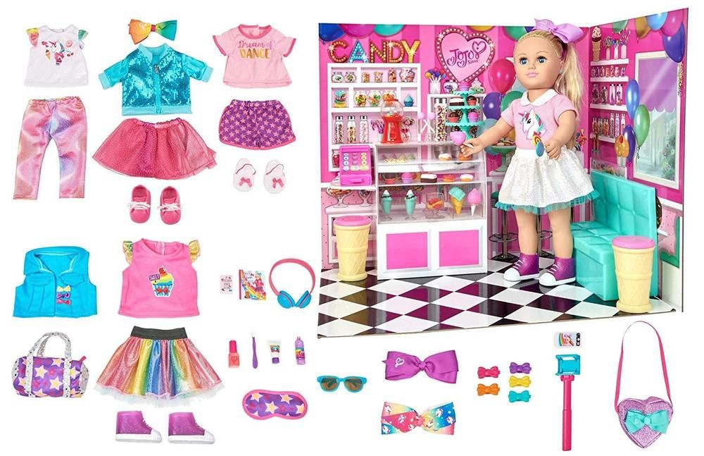 My Life As Jojo Siwa Doll 81 piece Travel Set Clothes