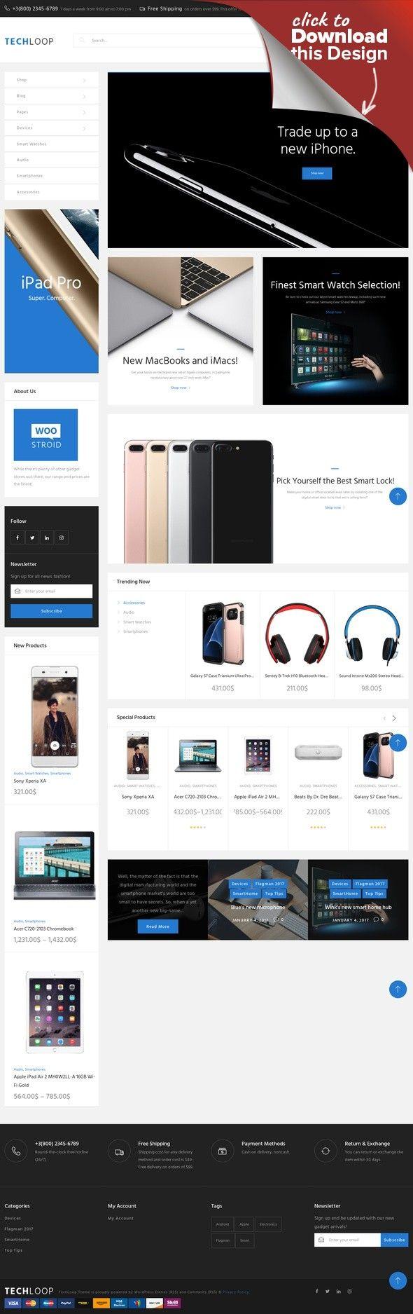 TechLoop - Responsives WooCommerce Theme für Elektronik und Gadgets ...