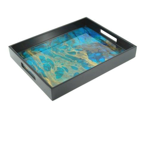 Blue Trays Blue Coffee Table Tray Blue Coffee Table Trays