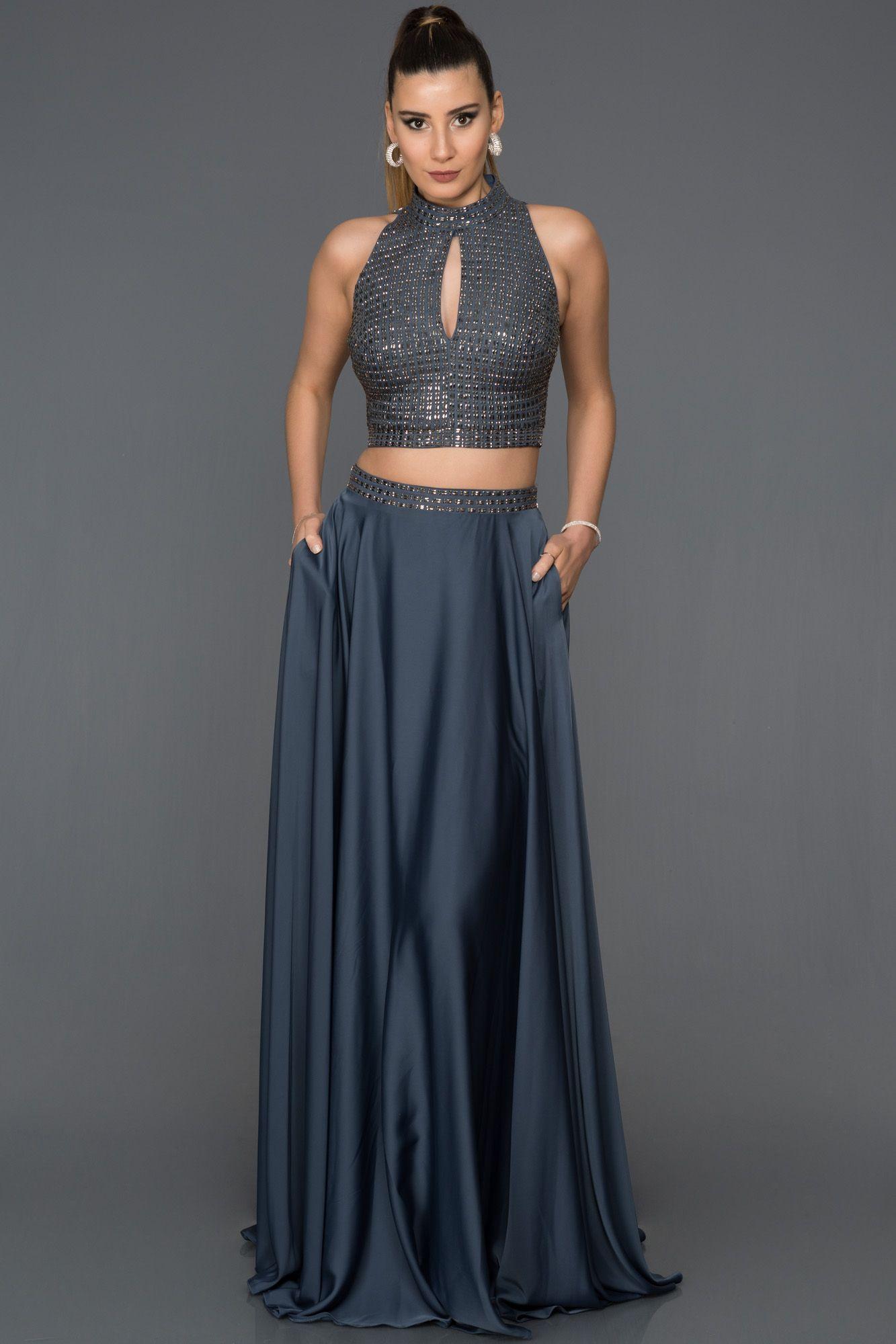 Lacivert Iki Parca Tasli Abiye Ab4425 Resmi Elbise Elbise Elbise Modelleri