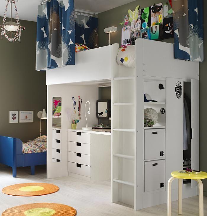 Camas infantiles altas catalogo ikea 2016 pinteres - Habitaciones pequenas ikea ...