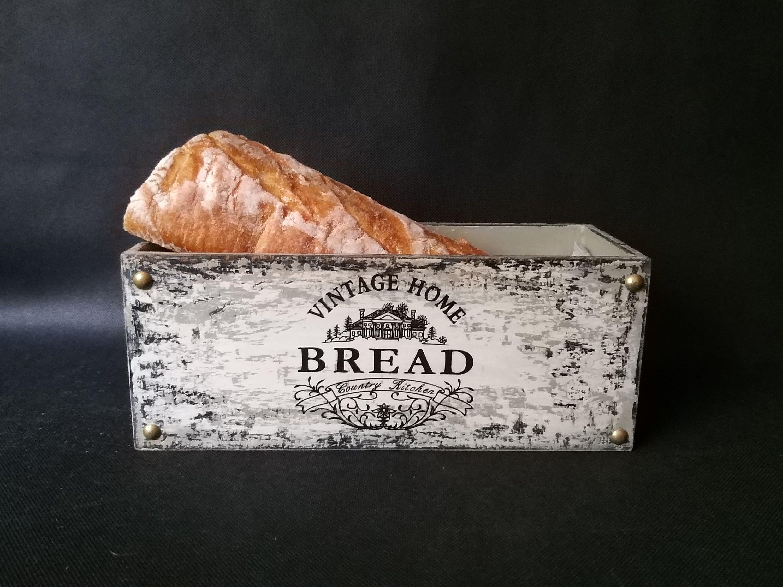Wooden Bread Storage Box Bread Bin Modern Farmhouse Rustic Etsy Bread Bin Bread Storage Vintage Bread Boxes