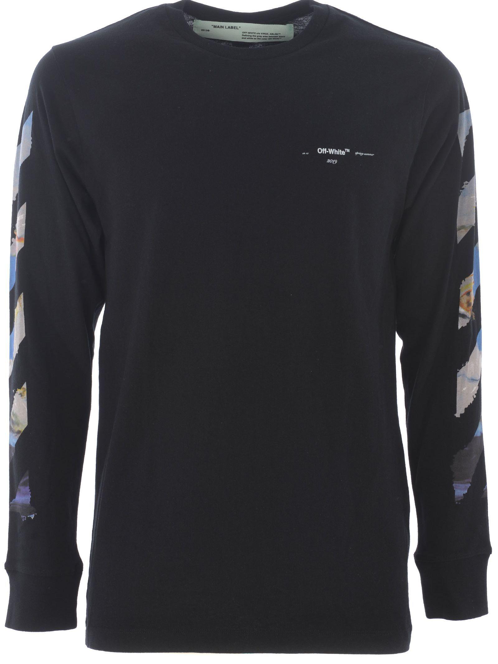Off White Diag Arrow L S Sweatshirt Long Sleeve Tshirt Men Sweatshirts Off White [ 2136 x 1600 Pixel ]