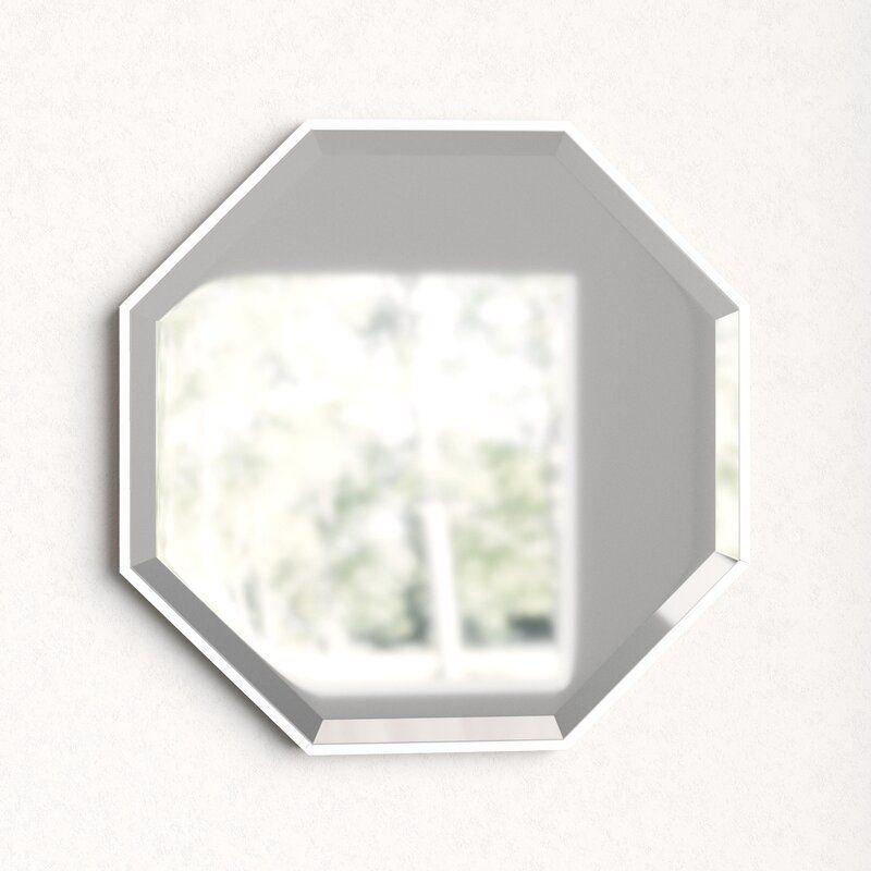 Bathroom Vanity Mirror, Herman Modern Contemporary Beveled Bathroom Vanity Mirror