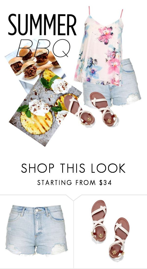 """summer barbeque"" by horrorhowell ❤ liked on Polyvore featuring Topshop, Tory Burch, Dorothy Perkins and summerbbq"