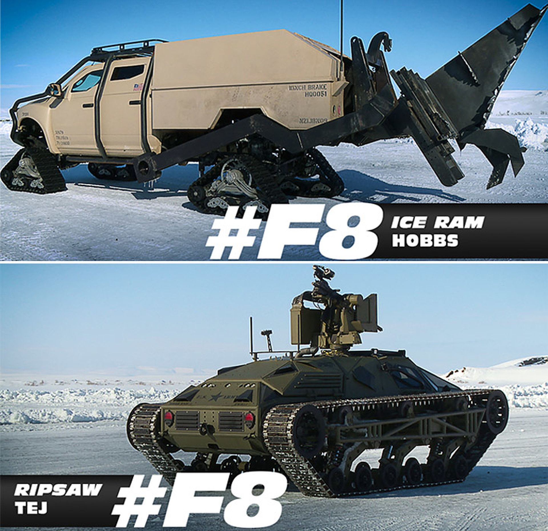 These Are The New Fast And Furious Ice Cars Fate And Furious 8