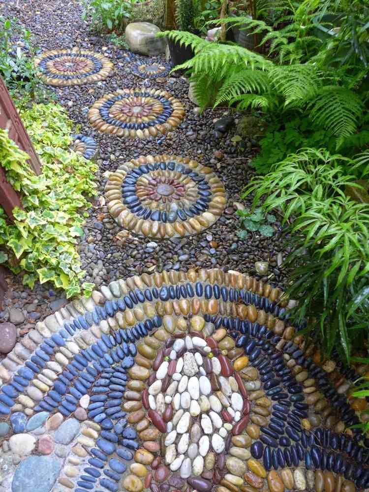 Kieselstein Mosaik für Trittsteine | Mosaik | Pinterest ...