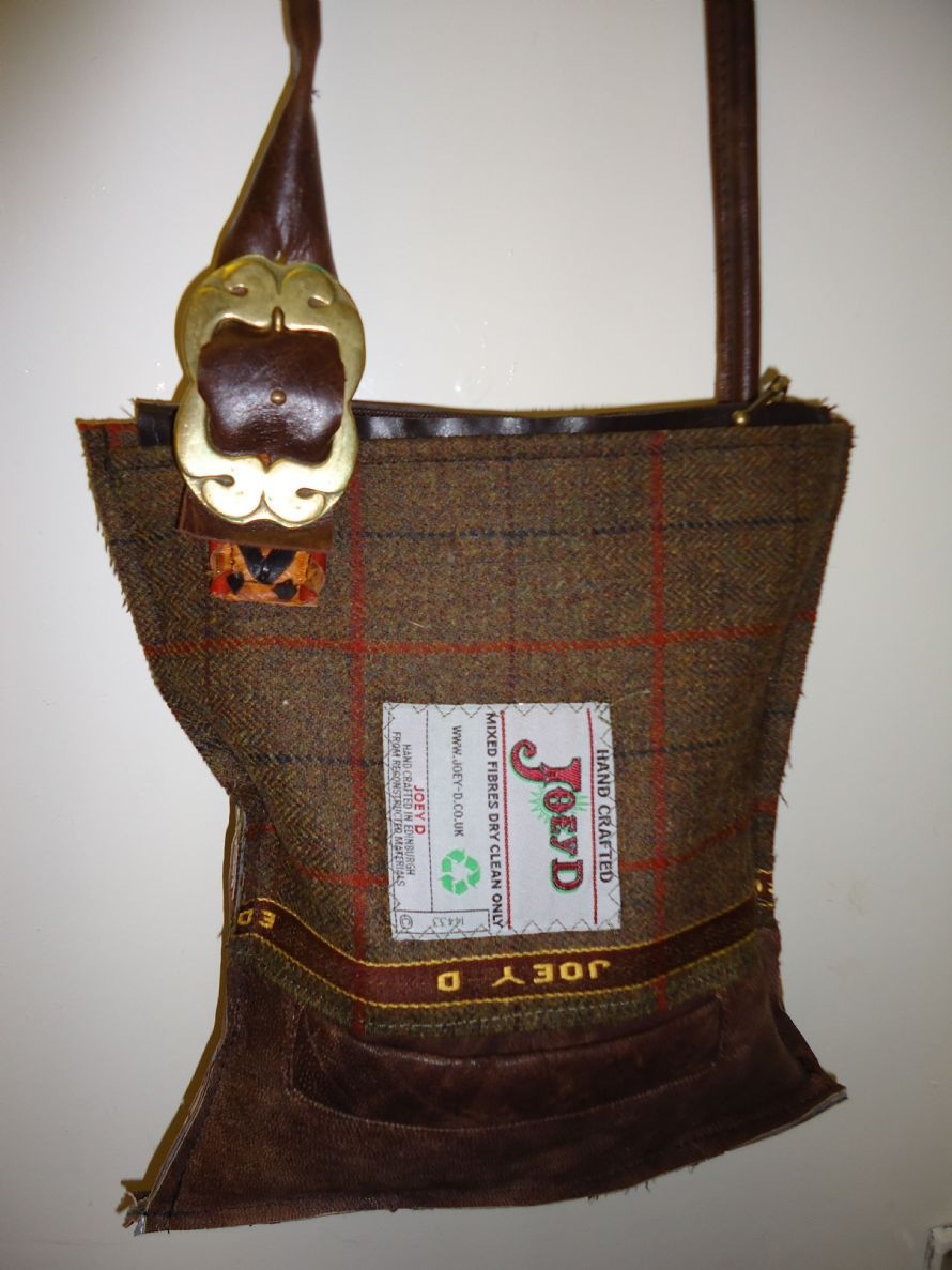 Joey D Tweed And Leather Buckle Bag Buckle Bags Leather Buckle Upcycle
