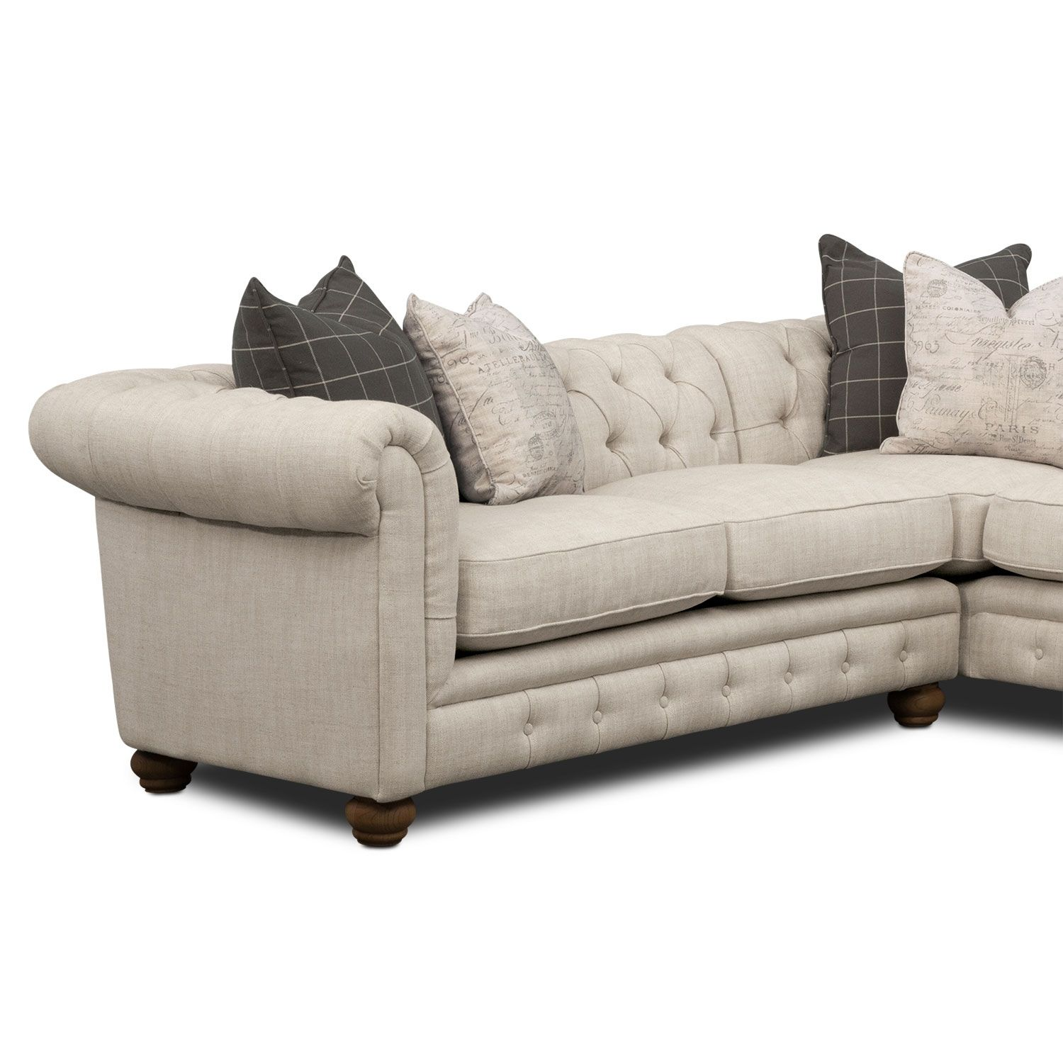 French Connection. Discover The Place Where French Country Charm Meets  Modern Living With The Madeline Beige Sectional Sofa. American Signature  Furniture ...