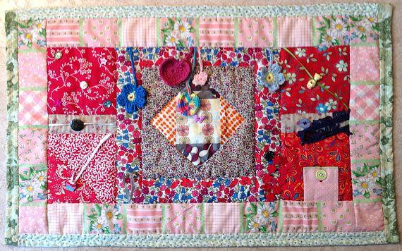 Twiddle Fidget Lap Quilt Mat With Liberty Fabric Lap Quilt Liberty Fabric Craft Items