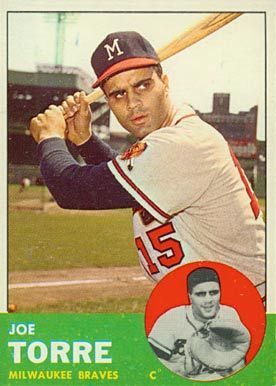 1963 Topps Joe Torre 347 Baseball Card Value Price Guide Baseball Cards Old Baseball Cards Baseball Card Values