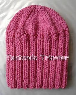 Tentando Tricotar  Gorro fácil e rápido em tricot  acadb4094a0