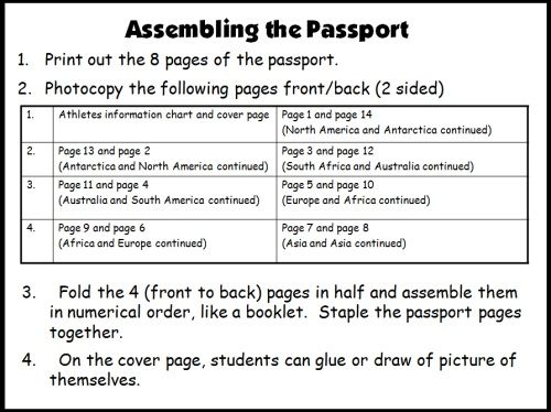 1000 images about Passport Bulletin Board 2013 – Free Passport Template for Kids