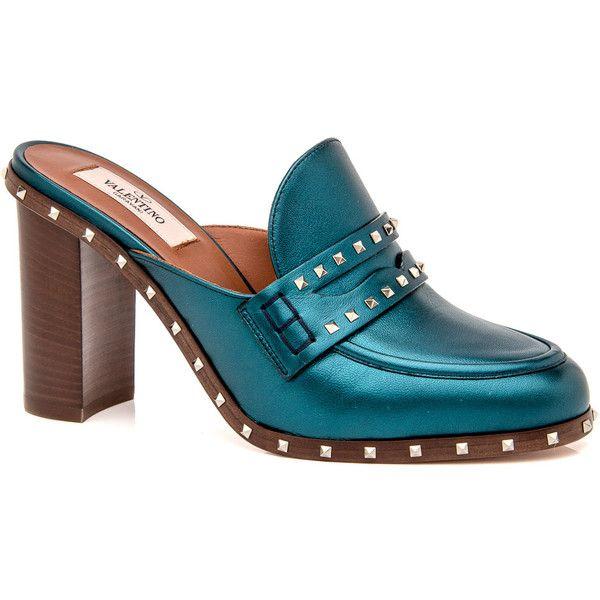 e4ad0de05636 Petrol Soul Rockstud Mule Pump ( 895) ❤ liked on Polyvore featuring shoes