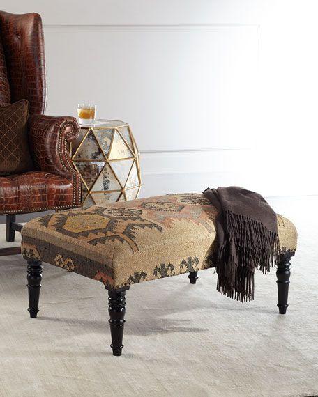 Sandia Ottoman   Chair, ottoman, Leather dining room ...