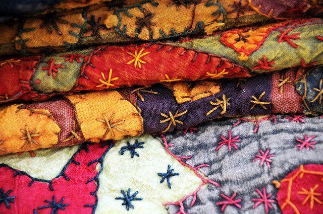 1918 Navajo Indian Outdoor Market Santa Fe New Mexico Blankets Textiles Colorful by Dallas Photographer David Kozlowski, via Flickr