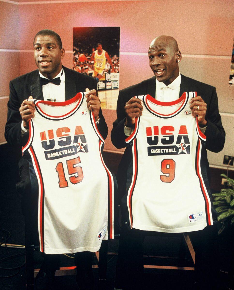 Magic and Jordan - 1992 USA Basketball Team