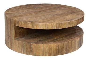 Classic Home Weston Round Coffee Table Pearl Igloo Round Wood