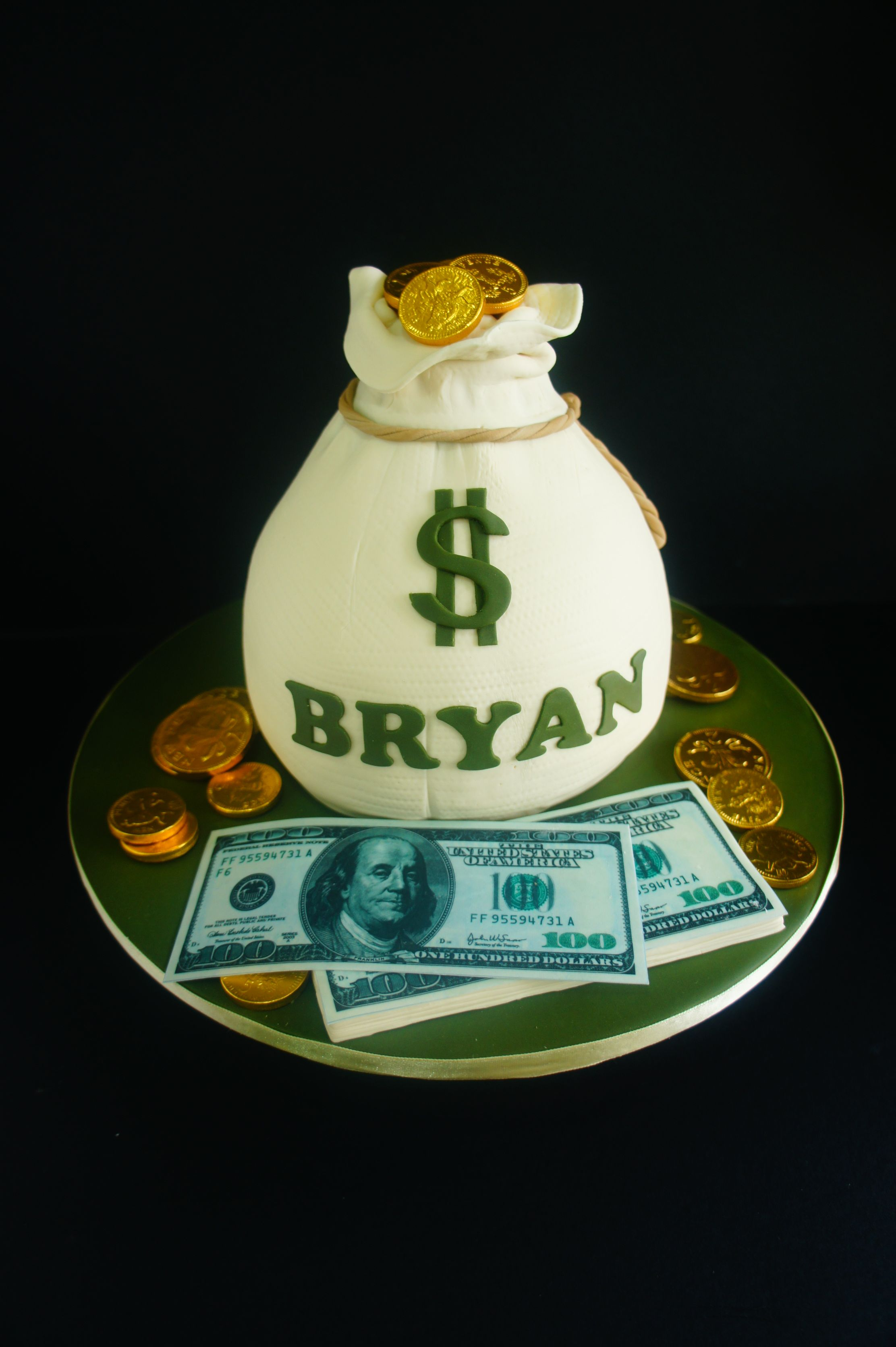 Money bag cake Birthday Cakes for Adults Pinterest Cake