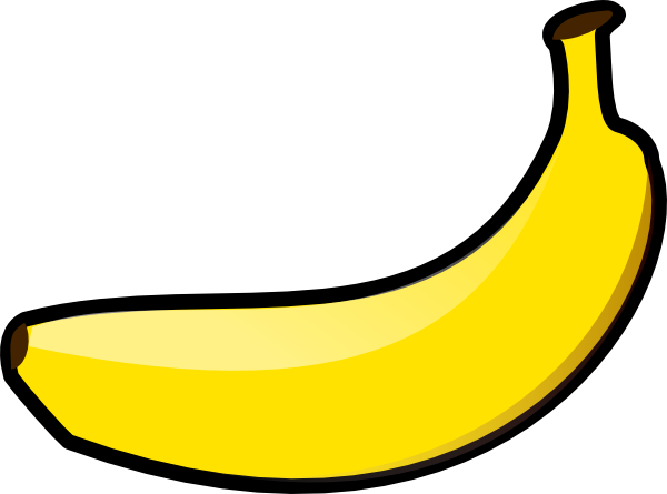 Banana royalty free. Copyright public domain grahics
