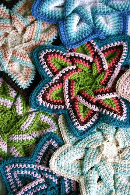 Crochet Pot Holders | Entrelac Crochet | Pinterest | Topflappen ...