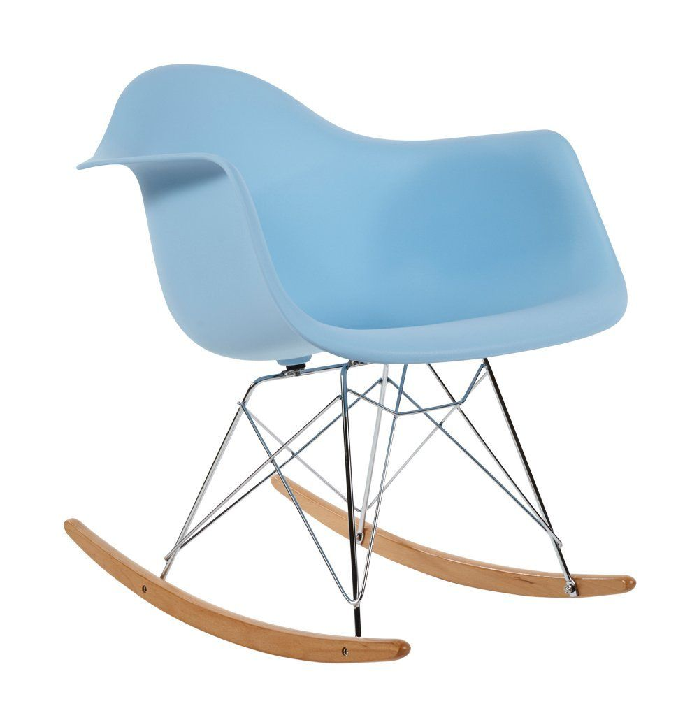 Remarkable Charles Eames Rar Plastic Rocking Chair Blue Amazon Co Uk Inzonedesignstudio Interior Chair Design Inzonedesignstudiocom