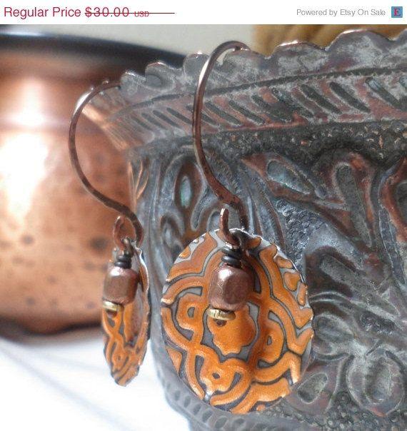 Progettare vacanze vendita orecchini di rame di NedjmaBazaar, $25.50