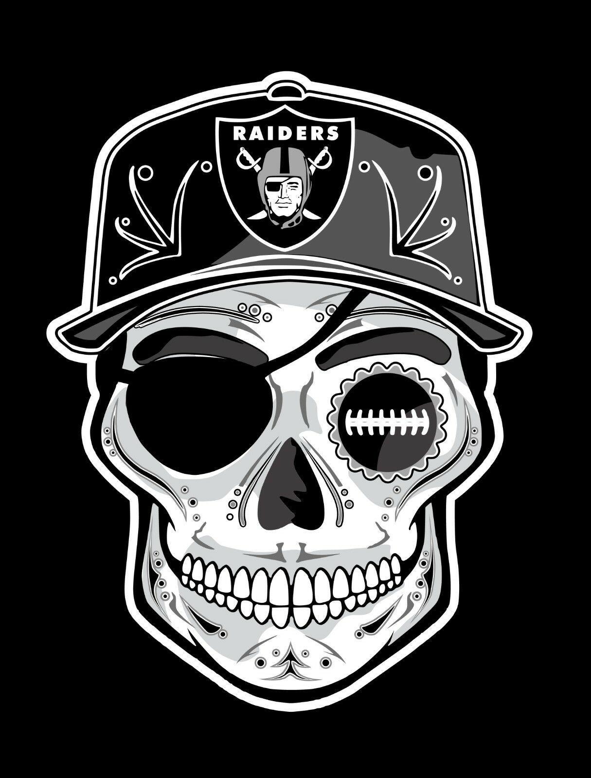 Buy 1 Get 1 Free Bogo Las Vegas Raiders 4 Inch Day Of The Dead Sugar Skull Sticker Decal Skull Sticker Raiders Vinyl Decal Stickers [ 1599 x 1215 Pixel ]