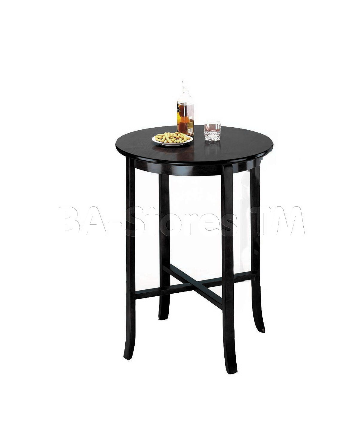 """Chelsea 30"""" Round Bar Table in Black"""