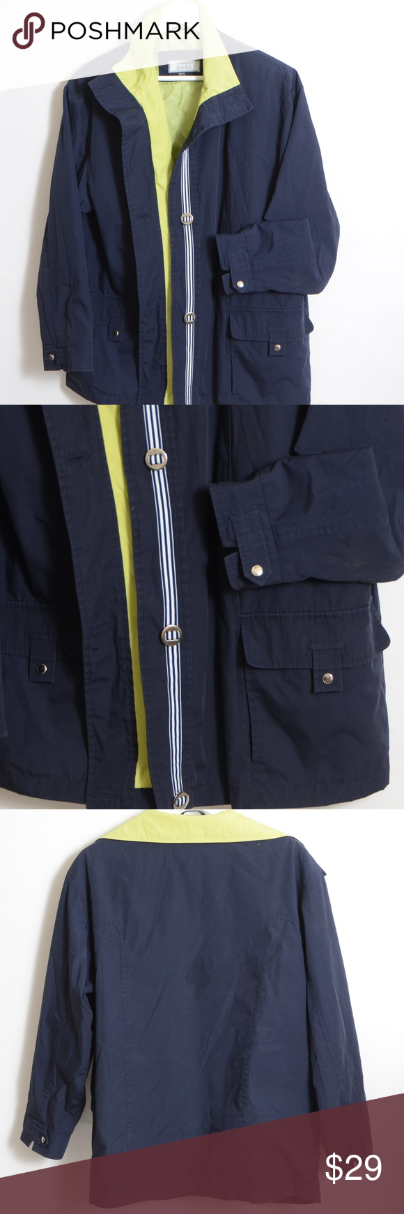 Izzi Women S Lightweight Jacket Nwt Size Xl Nwot Izzi Outerwear Navy Blue With Lime Color Lining Nwt Women Lightweight Jacket Womens Clothes Design Jackets [ 1740 x 580 Pixel ]