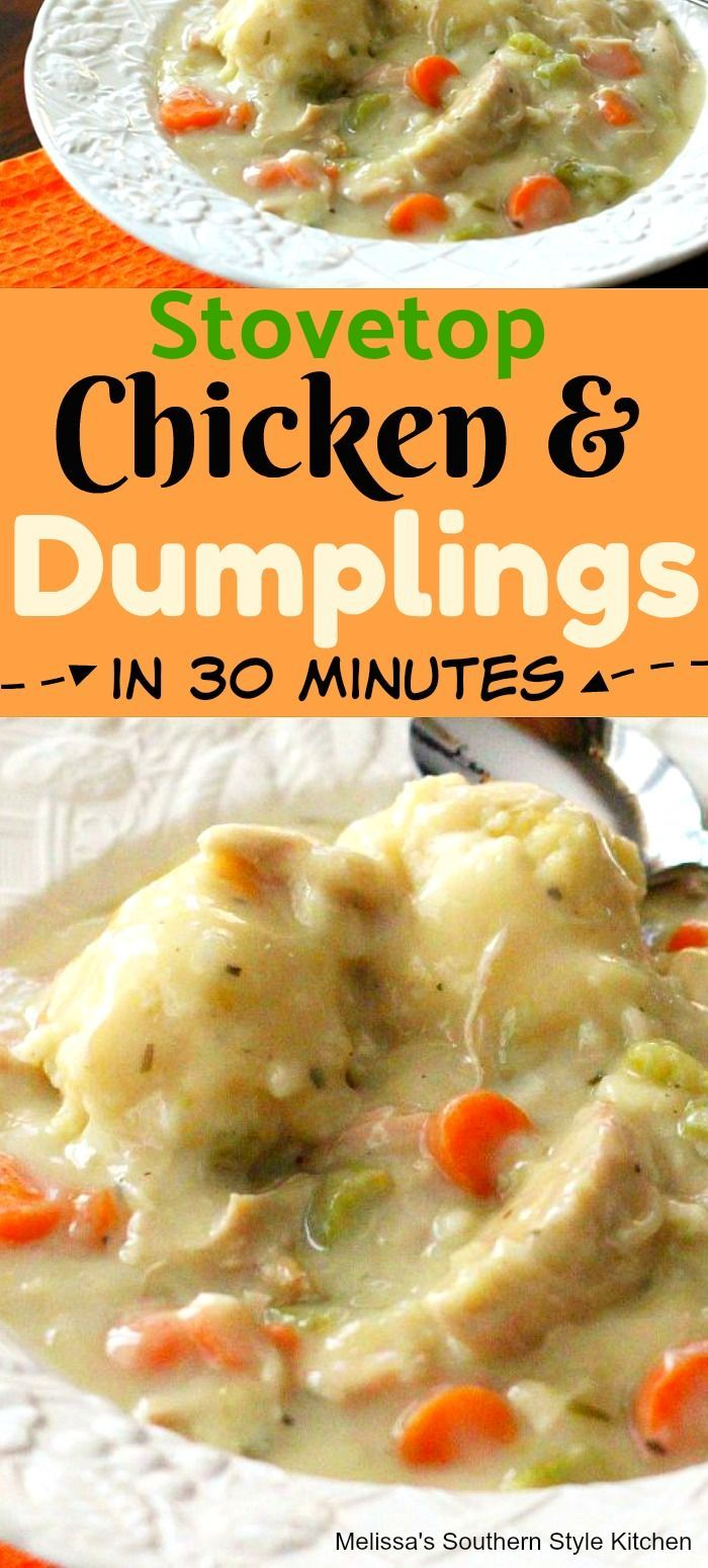 Stovetop Chicken And Dumplings In 30 Minutes Stovetop Chicken and Dumplings in 30 Minutes