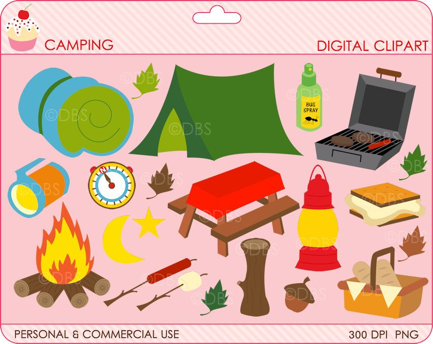 Digital Clipart Camping Clip Art Outside Woods