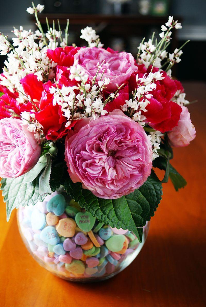Valentine floral arrangement coolest heart day pinterest diy valentine floral arrangement coolest izmirmasajfo Choice Image