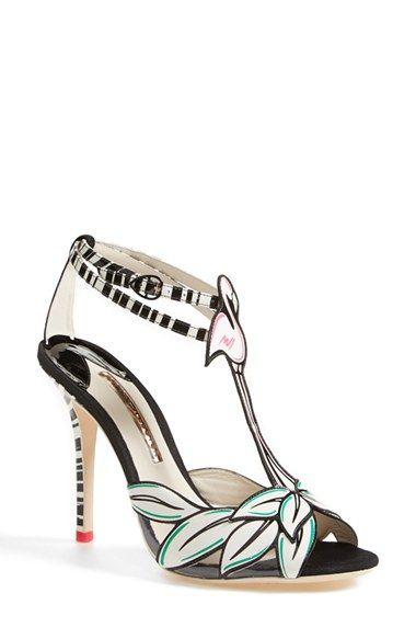 Leather sandals women, T strap shoes