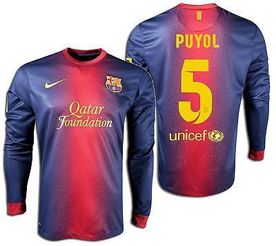 6cc70419e Nike fc barcelona carles puyol long sleeve home jersey 2012 13 ...