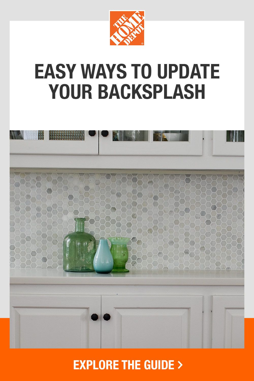 Give your kitchen an easy upgrade new tile backsplash. This Home Depot guide shares a step-by-step tutorial on how to install backsplash tile yourself, including tips and tricks for newbie DIYers. Click to learn how to add this timeless beauty and instant focal point to your home with help from The Home Depot.