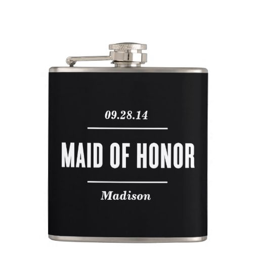 The Maid of Honor | Wedding Flask