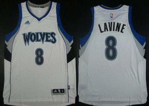 low priced 82faf d6f0f NBA Minnesota Timberwolves #8 Zach LaVine Revolution 30 ...