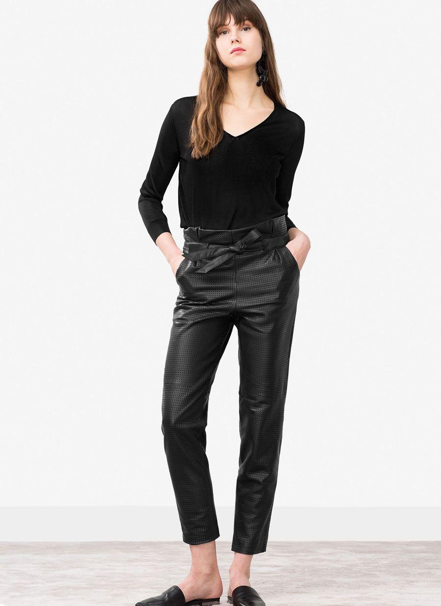 0ec63f5de7d Uterqüe Belgium Product Page - Nouveautés - Pantalon cuir ajouré - 375