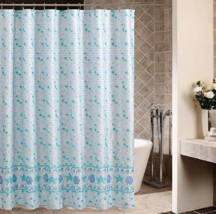 Eforcurtain Decorative Mosaic Pattern Shower Curtain Fabric