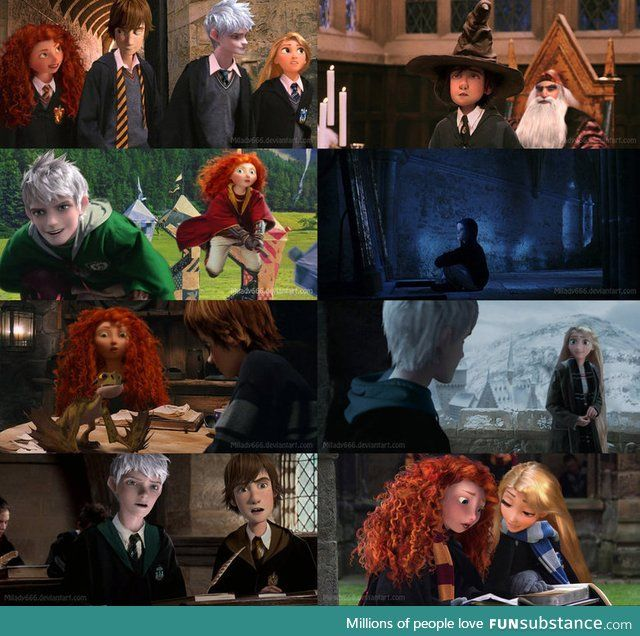 This Is Pretty Awesome Funsubstance Disney Hogwarts Harry Potter Disney The Big Four