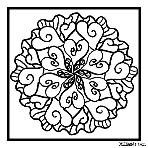 mosaic valentine coloring pages - Free Colouring