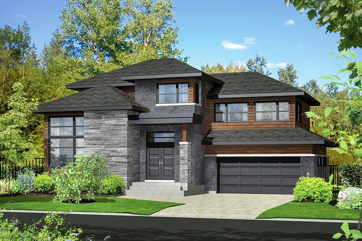 Plan 80940pm Contemporary 3 Bed Multi Level House Plan Modern Style House Plans Two Storey House Architectural Design House Plans