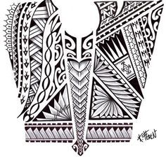 Dessin Tatouage Maorie dessin de tatouage maori aux bandes de symboles | tattoo | tattoos