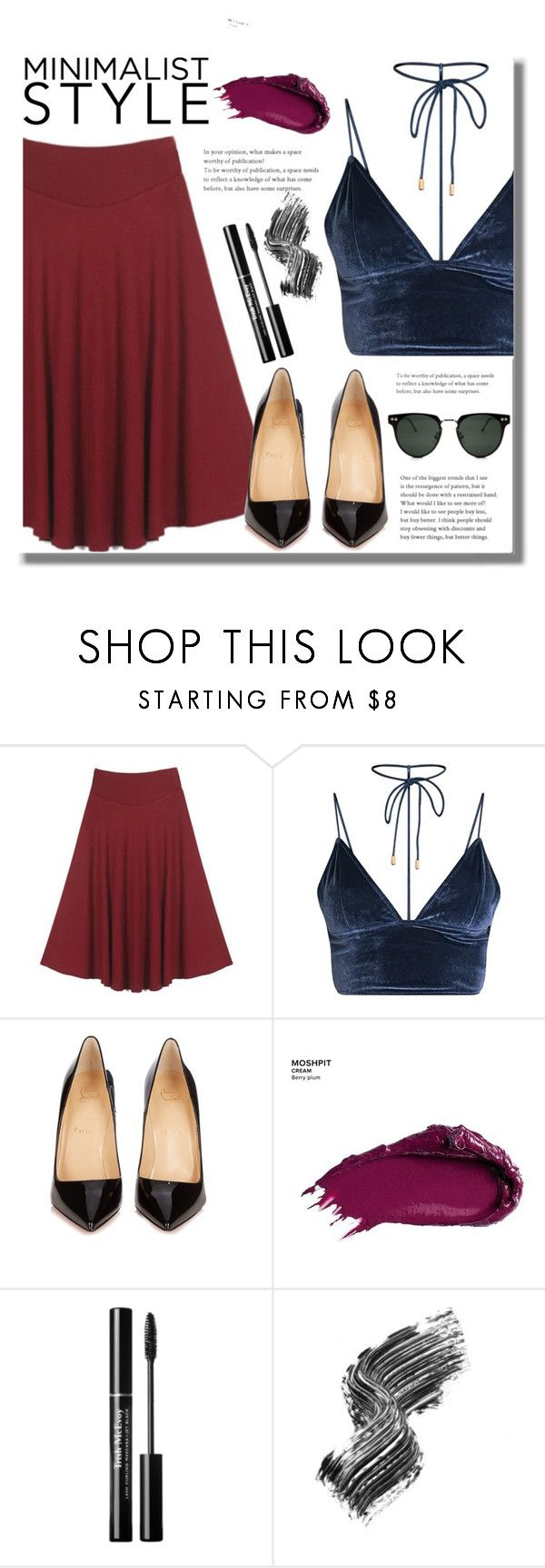 """Minimalist Style"" by edita-n ❤ liked on Polyvore featuring Christian Louboutin, Urban Decay, Illamasqua, Spitfire, Spring, dress and watch"
