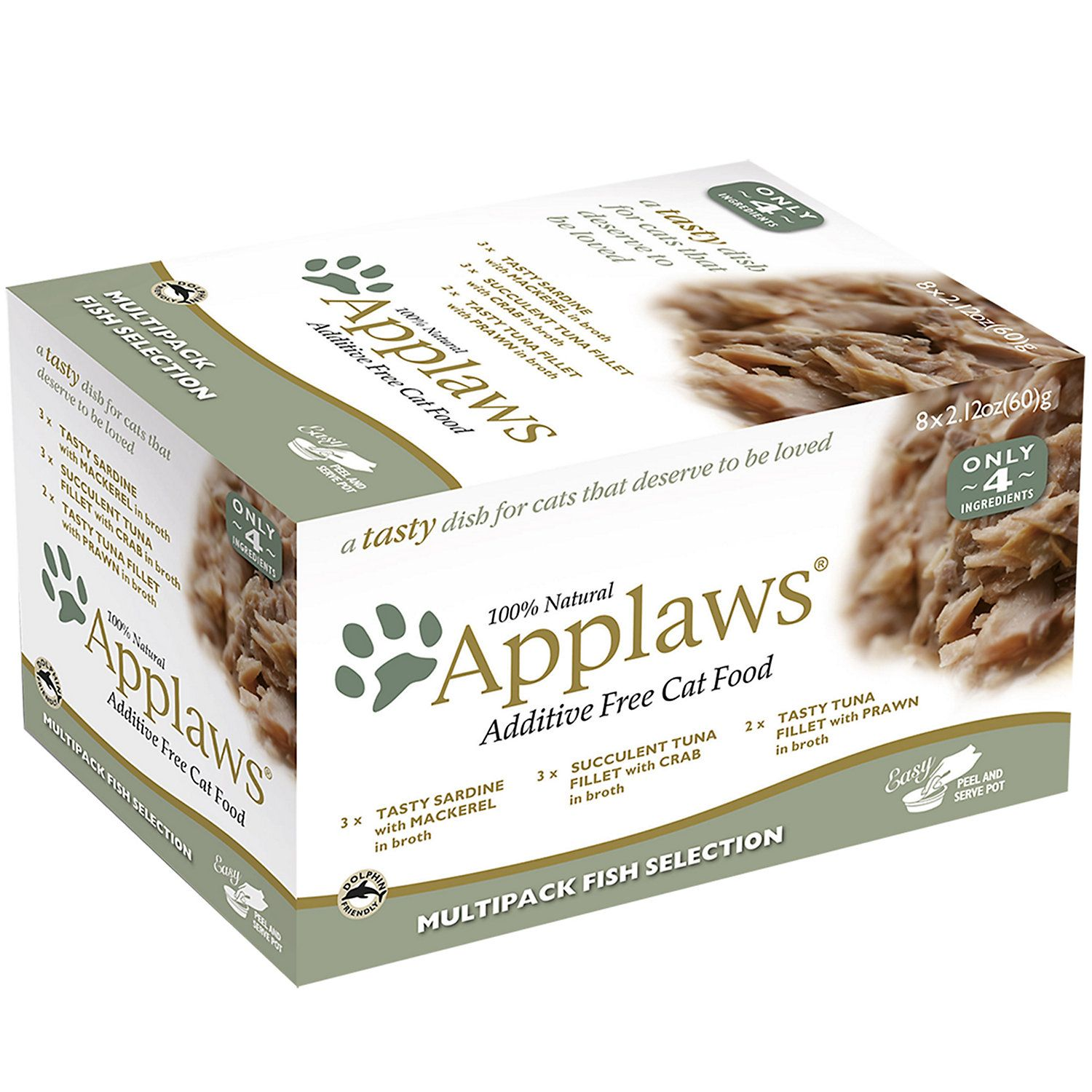 Applaws Fish Selection Multipack Wet Cat Food, 2.12 oz