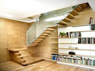 Escalera volada de madera SOSPESIA cris Pinterest Escaleras