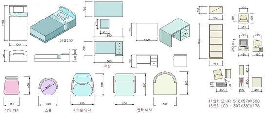 각종가구 치수모음 네이버 블로그 주택평면도 집 계획 건축 기초